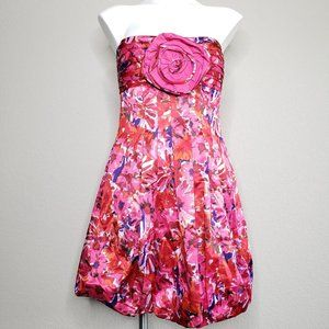 BCBGMaxAzria | Floral Strapless Dress in Begonia